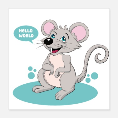 Rodent Little mouse as a gift for the birth - Poster 40x40 cm