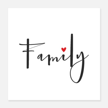 Party Family heart love - Poster