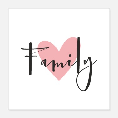 Family Family love heart gift decoration - Poster