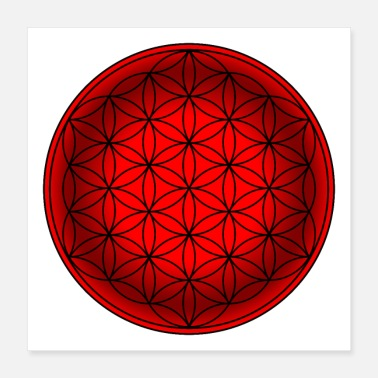 Esoteric Flower of Life, Esoteric, Flower of Life, Yoga - Poster