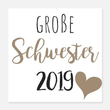 Grote Broer Grote zus 2019 - Poster 40x40 cm