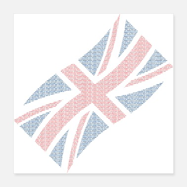Scripture Great Britain flag - Poster