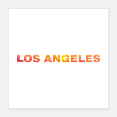 Los Angeles Los Angeles - Sunset - Poster 40x40 cm