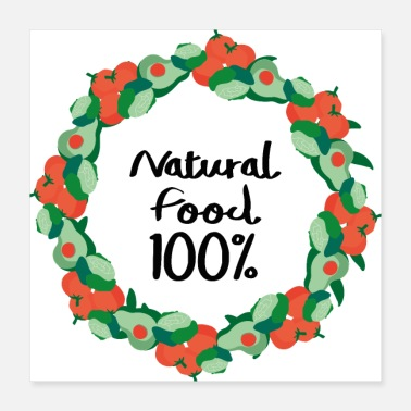 Aliment Aliment 100% naturel - Poster