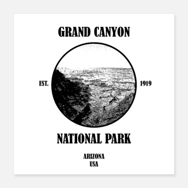 National Grand Canyon National Park USA - Poster 40x40 cm