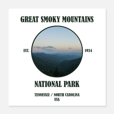 National Great Smoky Mountains National Park Tennessee USA - Poster 40x40 cm