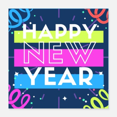 Happy New Year Happy New Year - Neon - Party - Englisch - Poster