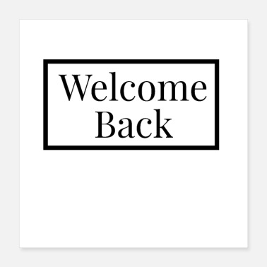 Empfang Welcome Back - Schwarzes Design - Poster