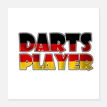 Germanen German darts - Poster