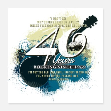 40th Guitarist - 40th Birthday - Poster