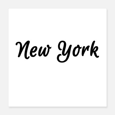 Usa New York - USA - black - Poster 40x40 cm