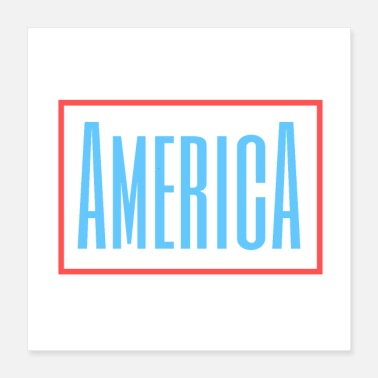 America America - red - blue - Poster