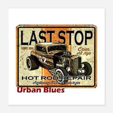 Hot Urban blues - Poster