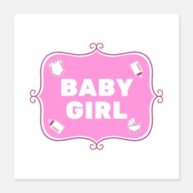 Baby Girl Baby Girl - Rosa - Englisch - Poster