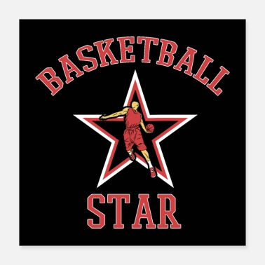 Balsport Basketball Star Basketballer Speler Fan Gift - Poster