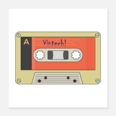 Audio Vintech MC - Audio Cassette - 90s - Radio - Music - Poster