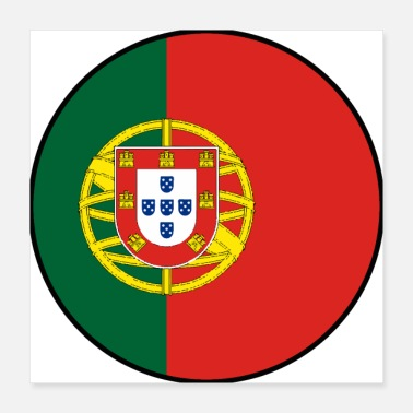 Handball Portugal Flagge Fahne cooles Fußball Fan Shirt - Poster 40x40 cm