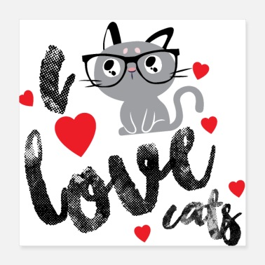 Cat Lady I Love Cats Shirt a must for every cat lady - Poster