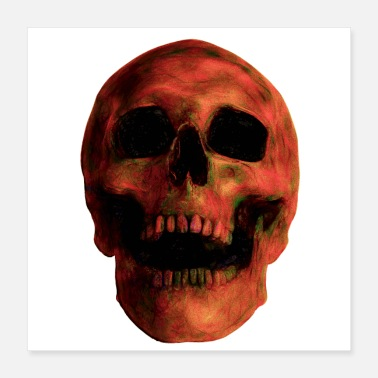 Burnt Burnt Earth Skull - Poster