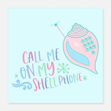 Mobile Mermaid gift mobile phone shell phone call - Poster