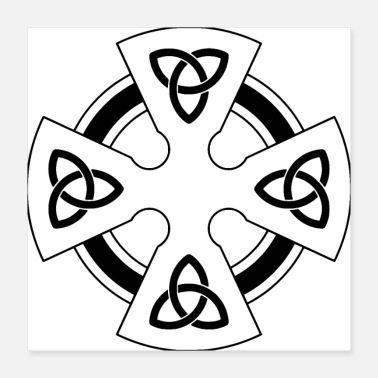 Celtic Celtic cross triqueta - Poster