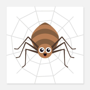 Web Brown Web Spinne Cartoon - Poster