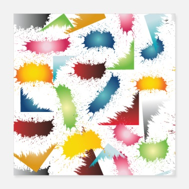 Gift Idea pattern colour - Poster