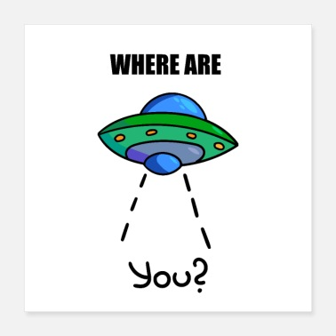 Saucer UFO, aliens, cool spaceship, rocket, saucer - Poster