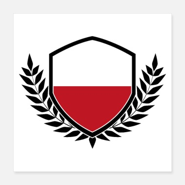 Polska Poland coat of arms | Polska Polish flag gift - Poster