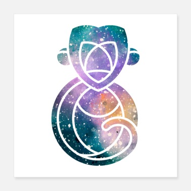 Ape Space APE | Starry sky | Galaxy - Poster