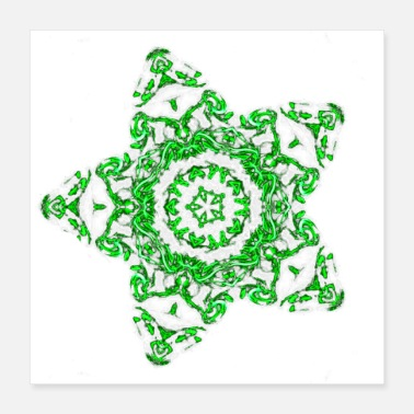 Radioactive Green Neon Star - Poster