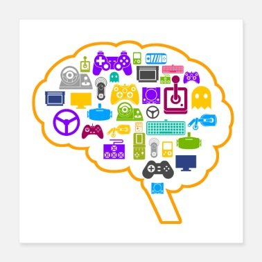 Console Game console brain controller gambler gift - Poster