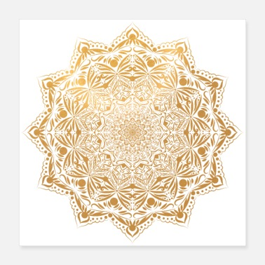 Gold Rush Mandala in gold - Poster