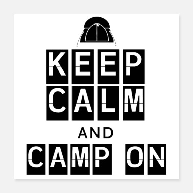 Tibet Design KEEP CALM AND CAMP ON - Poster