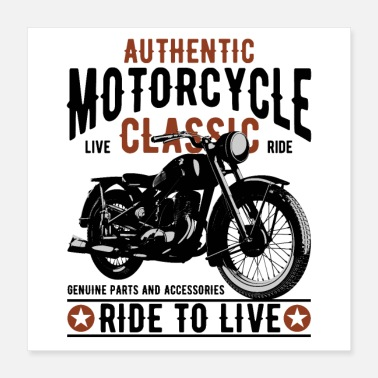 Old School AUTHENTIC MOTORCYCLE - Juliste