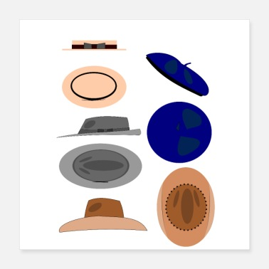 Collector Hats classics pattern - Poster