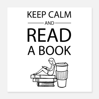 Book Children 0272 Keep calm and read a book | Book Rebels - Poster