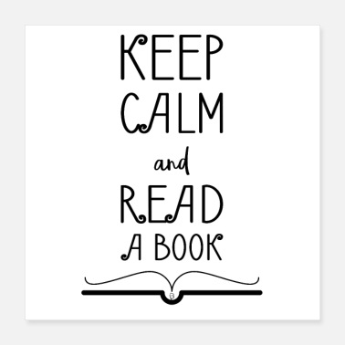 Book Children 0275 Keep calm and read a book - Poster