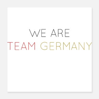 Teamsport WE ARE TEAM GERMANY - Poster