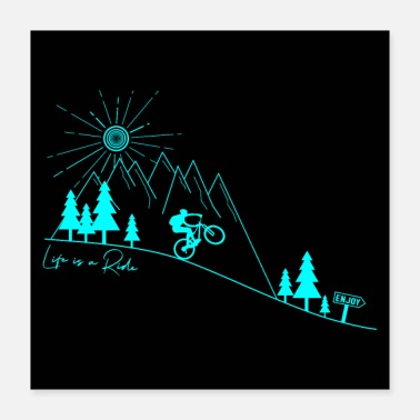 Downhill Mountainbike Fahrrad Downhill MTB Poster - Poster