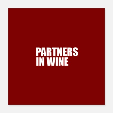 Partner partners in wine - Poster