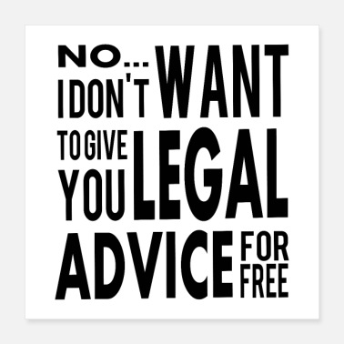 Grad Student Attorney Free Legal Advice - Lawyer Law Student - Poster