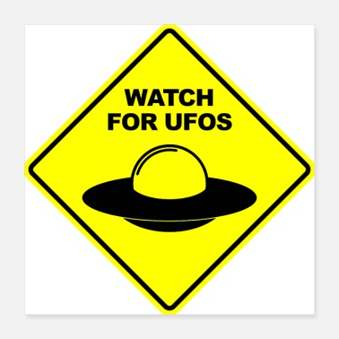Saucer Watch For UFOs Sign Sign - Poster