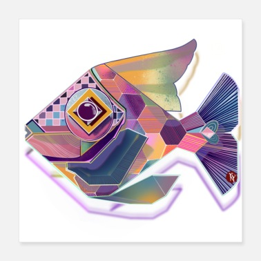 Lac poissons diamant - Poster