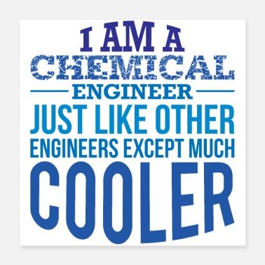 Chemical Chemical engineer design birthday graduation - Poster