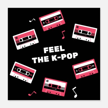Pop Music Kpop Design - Feel the K-Pop - Poster
