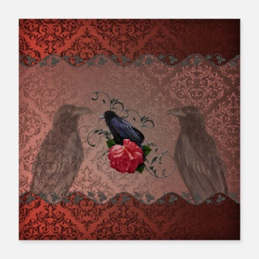 Manager Payment Management Wonderful raven in the elegant damask background - Poster