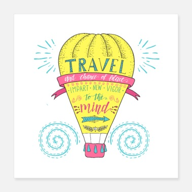 Travel Hot Air Balloon Driving Travel Travel Gift - Poster