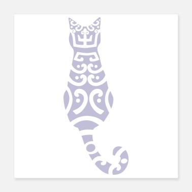 Tattoo Maori Cat Tribal Tattoo Gift Idea - Poster