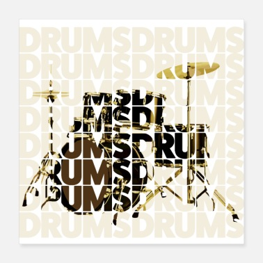 Rock 'n' Roll drums - Poster